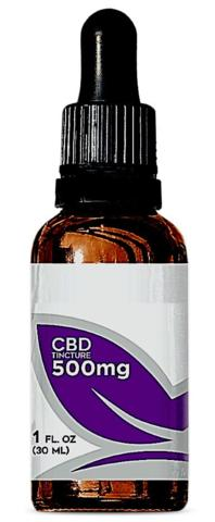 bottle of CBD with misleading dosage