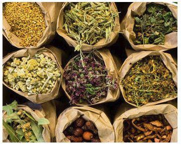 sacks of nautral herbs
